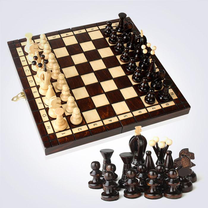 100% 핸드메이드 스몰 킹 체스 (30 x 30 x 5 Cm)