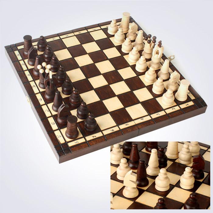 100% 핸드메이드 로얄 맥시 체스 (31 x 31 x 4.5 Cm)