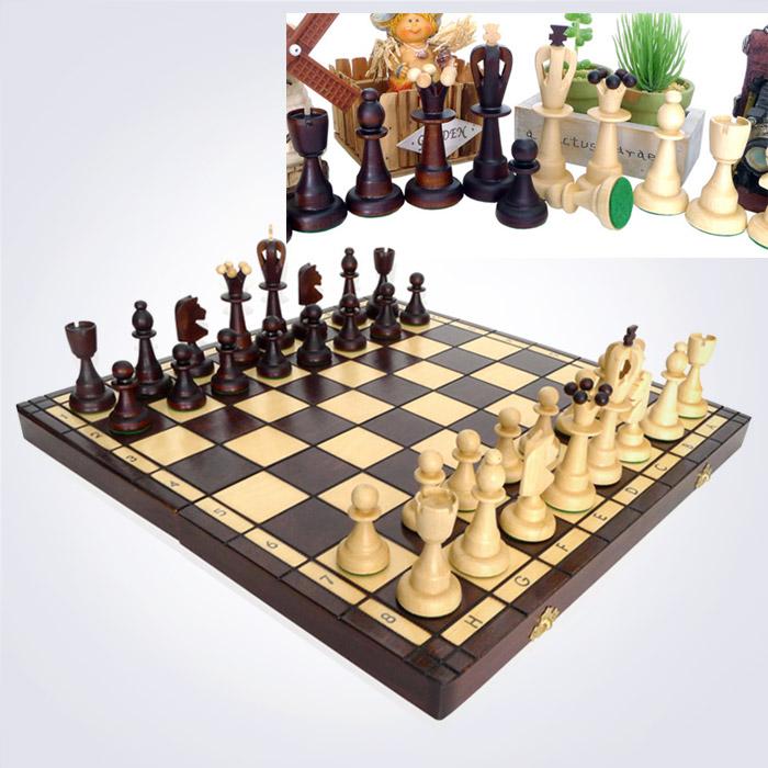 100% 핸드메이드 에이스 체스 (42 x 42 x 5.5 Cm)