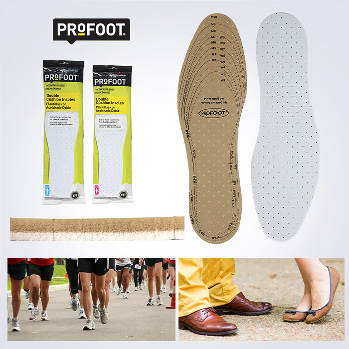 USA BRAND PROFOOT Double Cushion Insoles 디퍼런트 더블쿠션