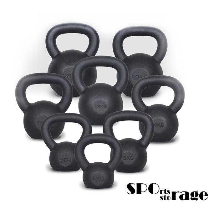스포리지 손잡이가 넓어 편리한 고급 넌슬립 분체도장 와이드그립 크레이지 블랙케틀벨
