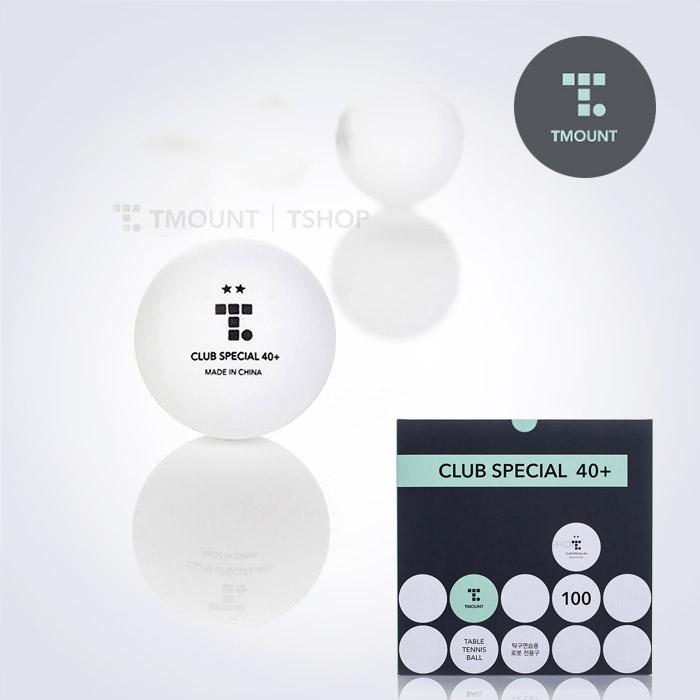 TMOUNT CLUB SPECIAL 일반연습용 2성 탁구공 100개입