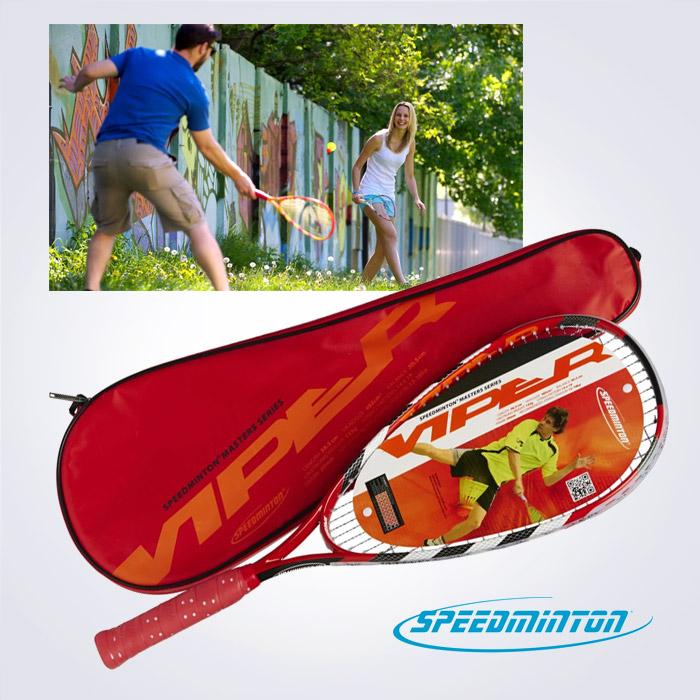 독일정품 [speedminton] 스피드민턴라켓 133g 초경량 선수용 Carbon Viper It