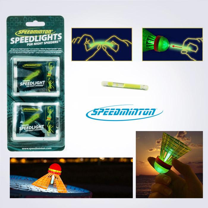 독일정품 [speedminton] 스피드민턴 야간 스피드라이트 8개(야광셔틀콕,불빛 배드민턴)