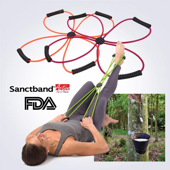 스포리지 USA FDA승인정품 SanctBand 스파이더 퍼플코드(전신 케이블운동 4지튜빙밴드)