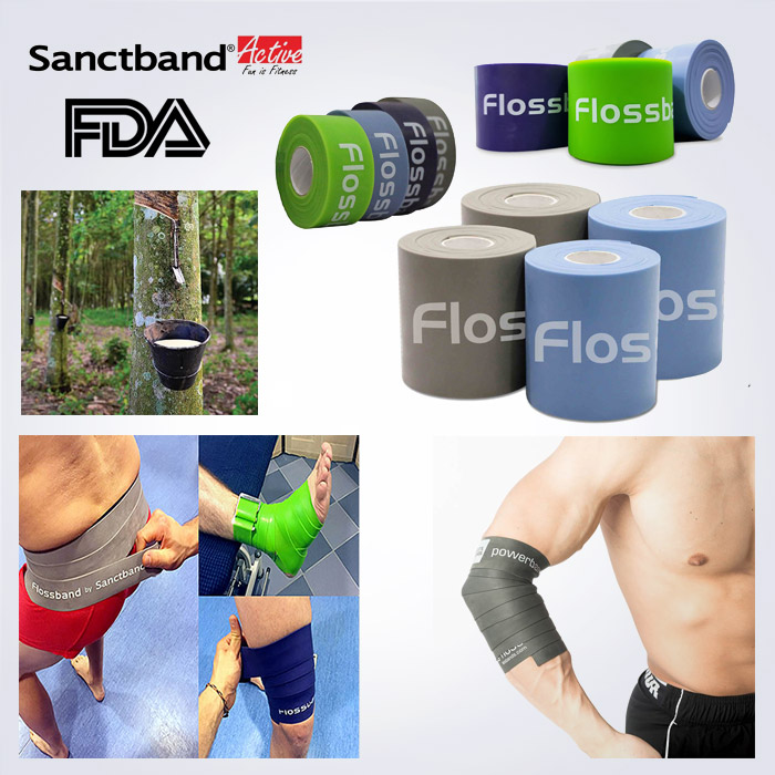 스포리지 FDA승인 천연라텍스 SanctBand Floss 플로스밴드 (혈류제한 압박밴드,통증완화)