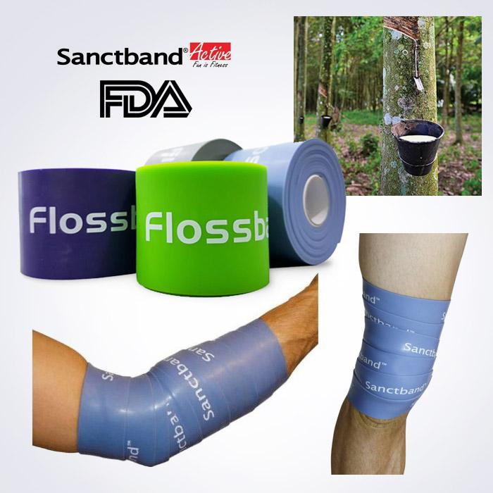 스포리지 FDA승인 플로스밴드 5cm x 2m (혈류제한 압박밴드,모세혈관 혈류개선,통증완화)
