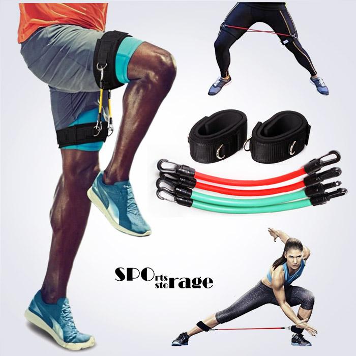 스포리지 하체단련 밸런스강화 스피드업 허벅지밴드 (강,약 2종류튜빙 발목강화,무릎재활,하체운동)