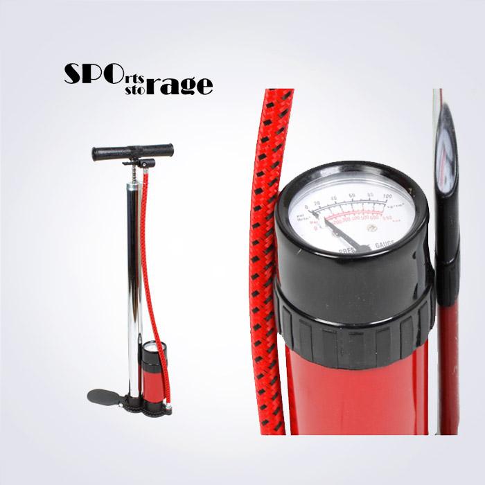 스포리지 대만산 알루미늄 100 psi 압력게이지 자전거펌프 (튼튼한 고급알루미늄 펌프)