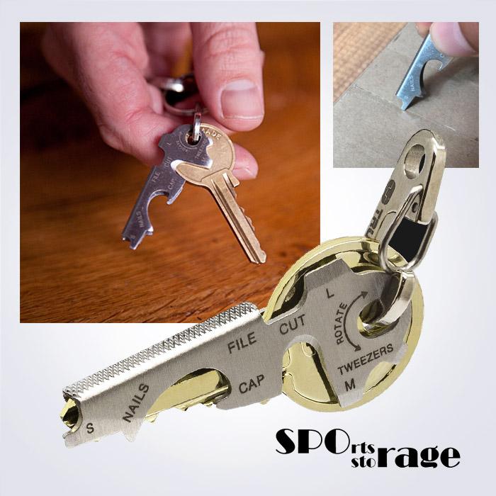 스포리지 True Utility KeyTool 열쇠고리 손톱관리형 멀티툴 8in1 병따게,드라이버외