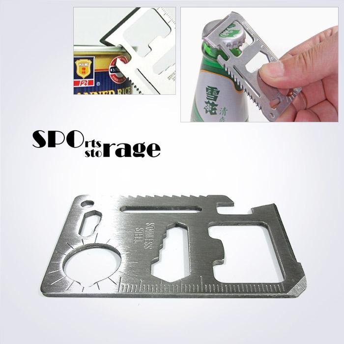 스포리지 카드형 멀티툴 스텐레스 ,지갑속에 보관하기 편리한 멀티툴