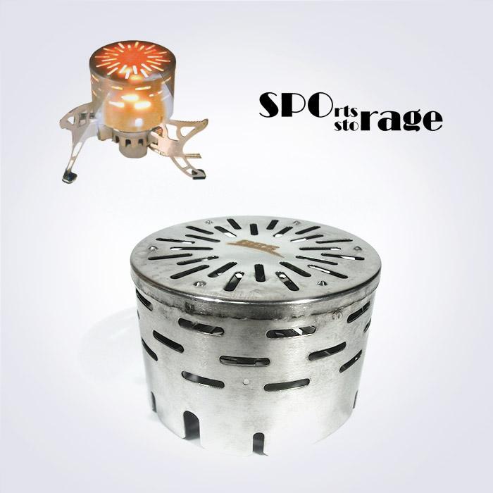 스포리지 버너형 스토브 캠핑난로 (초간편 가스버너를 히터로 바꿔주는 부수터,야외히터,가스워머,스팀)