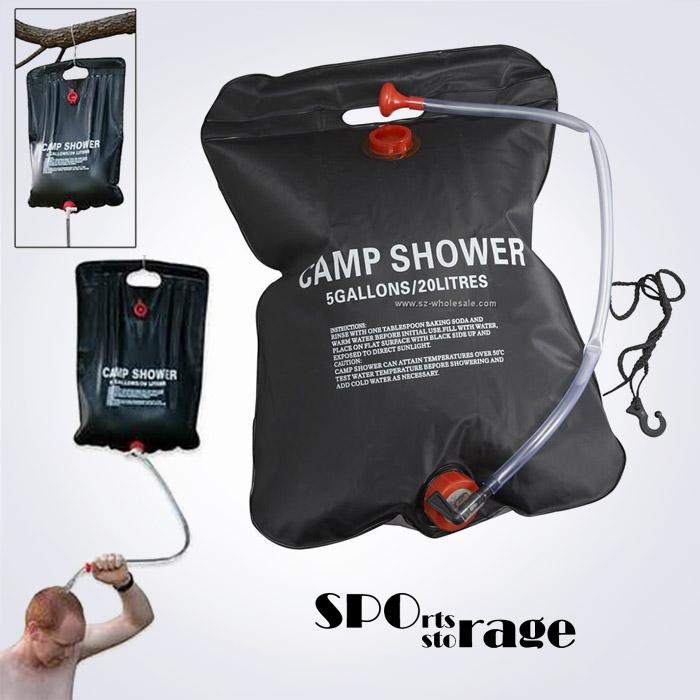 스포리지 야외 걸이식 수도꼭지형 샤워기 워터가방 20L (간편,편리한 캠핑용 세면,바디워시 물통)