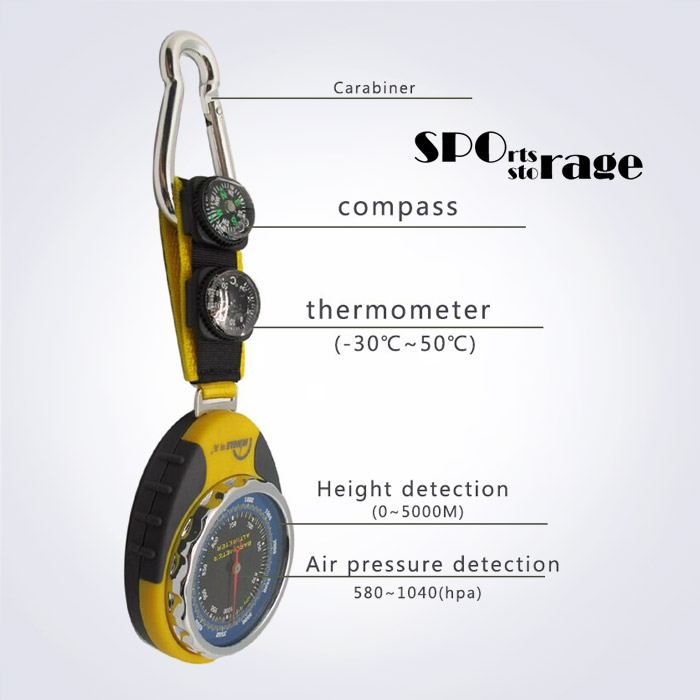 스포리지 아나로그형 고도기압온도방향 휴대용 멀티미터 (온도계,나침반,기압계,고도계)