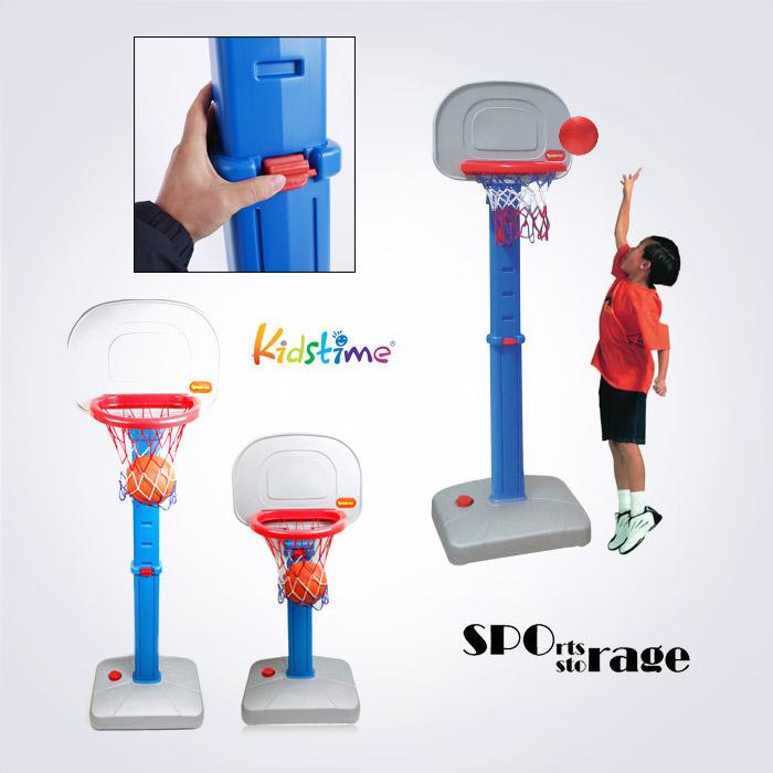 스포리지 KC안전인증 정품 대만산 물주입받침 어린이 높이조절 농구골대세트 (농구대,공,펌프)