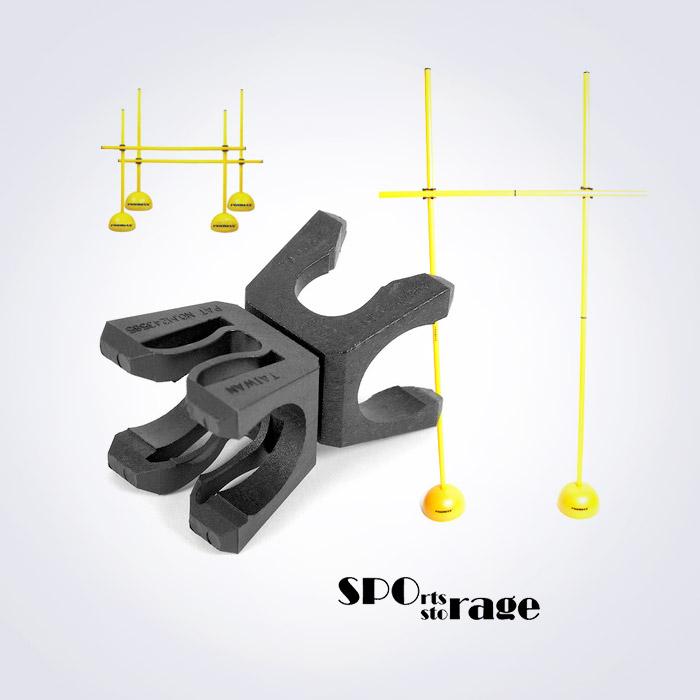 스포리지 대만산 범용 허들,림보,폴대 커넥터 (거의 모든 허들에 잘 맞고 각도조절 허들연결)