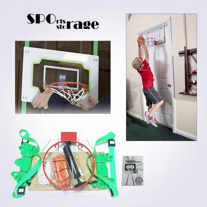스포리지 대만산 가정용 덩크슛 도어 농구골대 스트랩세트 (높낮이조절,골대스프링)