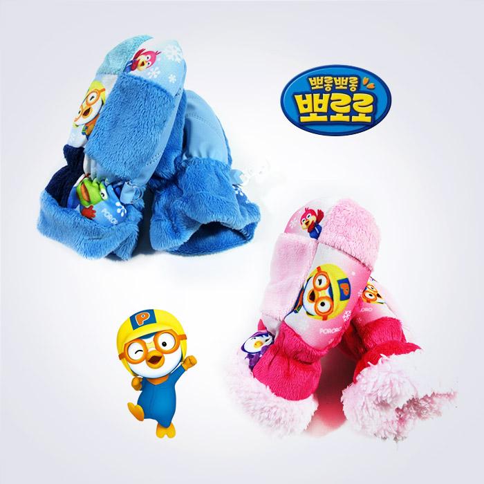 KC인증 뽀로로 고급 벨보아 소프트 유아 글러브장갑