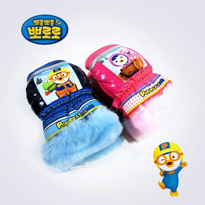 KC인증 뽀로로 방수 유아 글러브장갑
