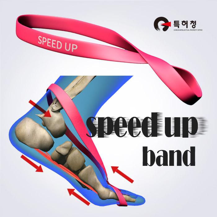 스포리지 달리기가 빨라지는 족저근 파워업 서포트 SPEED UP(스피드업) 워킹&런닝 탄력밴드