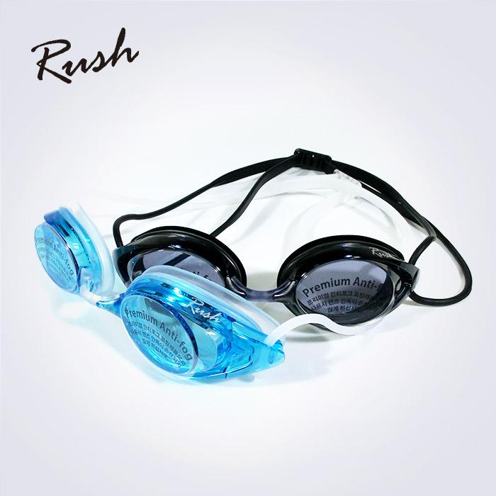 Rush 안티포그 성인용 고급 심플라인수경 (대한민국 생산 물안경)