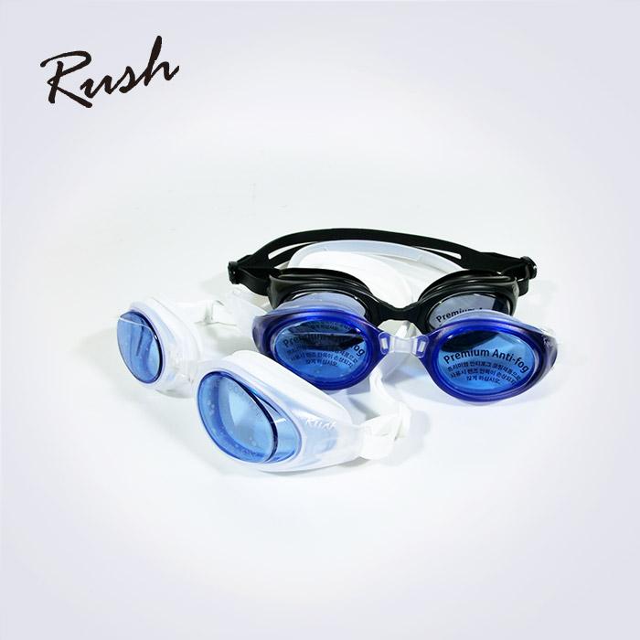 Rush 안티포그 성인용 고급 플랫라인수경 A (대한민국 생산 물안경)